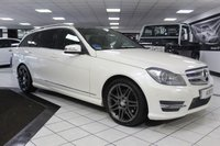 USED 2013 13 MERCEDES-BENZ C CLASS C350 CDI AMG SPORT PLUS AUTO BLUEEFFICIENCY 262 BHP 1 OWNER PAN ROOF COMAND NAV DIAMOND WHITE