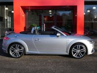 USED 2015 15 AUDI TT Roadster 2.0 TDI ULTRA S LINE 2d 185 S/S UPGRADE HEATED SEATS, VIRTUAL COCKPIT, LED XENON LIGHTS, REAR SPOILER, 19 INCH TWIN 5 SPOKE ALLOYS, TWIN EXHAUST, BLACK LEATHER ALCANTARA INTERIOR, SPORT SEATS, ALUMINIUM PEDALS, LEATHER FLAT BOTTOM MULTIFUNCTION STEERING WHEEL, AUTO LIGHT S & WIPERS, DRIVE SELECT, AUX & USB INPUTS, BLUETOOTH PHONE & MUSIC STREAMING, DAB RADIO, WIFI, CD HIFI, 2x SD CARD READERS, AIR CONDITIONING, KEYLESS START, ELECTRIC WINDOWS, ELECTRIC HEATED MIRRORS. 1 OWNER FROM NEW, SERVICE HISTORY, £30 ROAD TAX