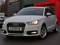 USED 2015 65 AUDI A1 1.6 TDI SPORT 3d 115 S/S £0 ROAD TAX (92 G/KM), DAB RADIO, BLUETOOTH PHONE & MUSIC STREAMING, AUDI MUSIC INTERFACE (AMI), MANUAL 5 SPEED GEARBOX, START STOP TECHNOLOGY, FRONT FOG LIGHTS, 16 INCH 5 SPOKE ALLOYS, GREY TORNADO CLOTH INTERIOR, SPORT SEATS, LEATHER MULTIFUNCTION STEERING WHEEL, AIR CONDITIONING, CD & SD CARD READER, TYRE PRESSURE MONITORING SYSTEM, ELECTRIC WINDOWS, ELECTRIC HEATED DOOR MIRRORS, ISO FIX, FOLDING REAR SEATS, AIRBAGS WITH PASSENGER OFF FUNCTION.  1 OWNER FROM NEW, SERVICE HISTORY, VAT Q