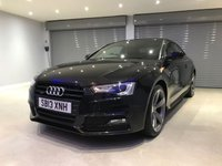 "USED 2013 13 AUDI A5 2.0 TDI QUATTRO S LINE BLACK EDITION 2d 175 BHP B&O SOUND SYSTEM + HEATED SEATS + 19"" ROTOR ALLOY WHEELS"