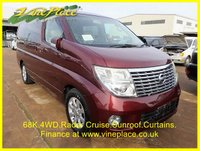 2006 NISSAN ELGRAND X 3.5 4WD, Automatic,8 Seats,Radar Cruise Power Curtains,Twin Sunroofs £9000.00