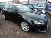 USED 2012 61 AUDI A3 2.0 TDI S LINE S/S 3d AUTO 168 BHP FULL SERVICE HISTORY, GREAT VALUE, 1/2 LEATHER,  ALLOYS,