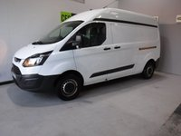 USED 2014 14 FORD TRANSIT CUSTOM 2.2 290 LR P/V 1d 124 BHP GREAT VAN  WITH ONE OWNER AND SERVICE  HISTORY FINISHED IN BRIGHT WHITE,WITH IMMACULATE BODY WORK AND UNMARKED INTERIOR,  ELEC WINDOWS, REMOTE CENTRAL LOCKING, RADIO CD USB POINT, , FRONT AND REAR PARKING SENSORS, CARGO LINED, BULK HEAD,  JUST SERVICED READY FOR WORK.