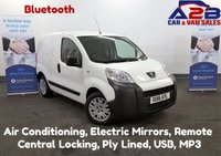 2016 PEUGEOT BIPPER 1.3 HDI PROFESSIONAL 75 BHP with Bluetooth, Air Conditioning, Electric Pack, Ply Lined, USB, MP3, Metal Bulkhead £5280.00