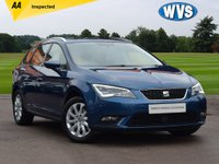 USED 2014 64 SEAT LEON 1.6 TDI SE TECHNOLOGY 5d 105 BHP Free road tax on this 2014 Seat Leon 1.6tdi SE Estate in blue metallic with ADAPTIVE CRUISE CONTROL, FRONT AND REAR PARK SENSORS, SAT NAV, BLUETOOTH, DAB RADIO AND MUCH MORE!  A spacious and economical diesel estate car that is amazing value for money. 1 keeper with service history, ASK ABOUT OUR LOW RATE PCP DEALS ON THIS CAR.
