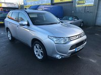 USED 2013 13 MITSUBISHI OUTLANDER 2.3 DI-D GX 4 5d 147 BHP IN SILVER WITH SEVEN BLACK LEATHER SEATS ,,SAT NAV AND ONLY 91000 MILES. APPROVED CARS ARE PLEASED TO OFFER THIS  MITSUBISHI OUTLANDER 2.3 DI-D GX 4 5d 147 BHP IN SILVER WITH SEVEN BLACK LEATHER SEATS,REAR CAMERA,REAR PARKING SENSORS,AIR CON,BLUETOOTH,CRUISE CONTROL,ELECTRIC ROOF,SEATS,MIRRORS,WINDOWS,PRIVACY GLASS, AND SAT NAV A GREAT SPEC CAR WITH A FULL MITSUBISHI SERVICE HISTORY WITH 7 SERVICE STAMPS IN THE SERVICE BOOK MAKE THIS A 7 SEATER 4X4 TOP SPEC SUV NOT TO BE MISSED AND A A SENSIBLE PRICE.