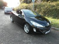 USED 2010 10 PEUGEOT 308  1.6 SE Coupe Convertible Petrol Cabriolet 1 owner Black BAD CREDIT FINANCE / LOW RATE FINANCE / PART EXCHANGE