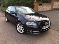 2011 AUDI A3 2.0 SPORTBACK TDI SPORT 5d 138 BHP PLEASE CALL TO VIEW £SOLD