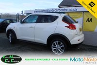 USED 2012 12 NISSAN JUKE 1.6 ACENTA SPORT 5d 117 BHP WHITE PETROL  GENUINE LOW MILEAGE + ONE OWNER FROM NEW
