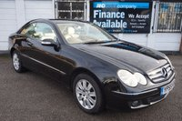USED 2005 55 MERCEDES-BENZ CLK 2.1 CLK220 CDI ELEGANCE 2d AUTO 148 BHP 7 STAMPS-LEATHER Excellent Service History with 7 Stamps, Black with Full Cream Leather