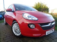 USED 2013 13 VAUXHALL ADAM 1.4 GLAM 3d 85 BHP **Huge Spec Low Mileage Full Vauxhall Service History 4 Services 12 Months Mot**