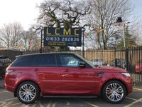 "USED 2015 65 LAND ROVER RANGE ROVER SPORT 3.0 SDV6 HSE DYNAMIC 5d AUTO 306 BHP REMAINDER OF 5 YEAR SERVICE PACK, STUNNING FIRENZE RED METALLIC WITH EBONY OXFORD PERFORATED LEATHER UPHOLSTERY. ONLY TWO OWNERS FROM NEW. PANORAMIC GLASS ROOF WITH ELECTRIC SUNBLIND. 21"" FIVE SPOKE TRIPLE ALLOY WHEELS. REAR CAMERA. SATELLITE NAVIGATION. PRIVACY GLASS. FRONT AND REAR PARKING SENSORS. LAND ROVER SERVICE HISTORY. PLEASE GOTO www.lowcostmotorcompany.co.uk TO VIEW OVER 120 CARS IN STOCK, SOME OF THE CHEAPEST ON AUTOTRADER."