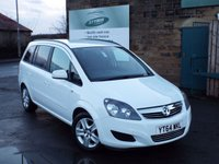 USED 2014 64 VAUXHALL ZAFIRA 1.8 EXCLUSIV 5d 120 BHP Seven Seats Service History