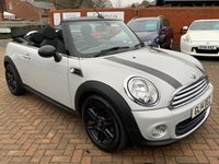 USED 2014 14 MINI CONVERTIBLE 1.6 ONE 2d 98 BHP