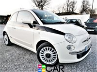 USED 2010 10 FIAT 500 1.2 LOUNGE 3d 69 BHP 1 OWNER + FULL GLASS ROOF