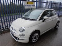 USED 2016 16 FIAT 500 1.2 Lounge (s/s) 2dr Fiat History & £20 Road Tax