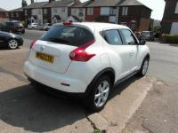 USED 2012 62 NISSAN JUKE 1.6 16v Acenta Petrol White Low mileage Bluetooth BAD CREDIT FINANCE / LOW RATE FINANCE / PART EXCHANGE