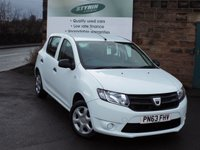USED 2013 63 DACIA SANDERO 1.5 AMBIANCE DCI 5d 90 BHP ZERO Rate Road Tax Good Service istory