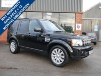 USED 2013 13 LAND ROVER DISCOVERY 3.0 4 SDV6 XS 5d AUTO 255 BHP FULL SERVICE HISTORY, 4 LANDROVER DEALER SERVICE STAMPS, FULL LEATHER, SAT NAV, CRUISE