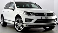 "USED 2017 17 VOLKSWAGEN TOUAREG 3.0 TDI BlueMotion Tech R-Line Plus Tiptronic 4x4 (s/s) 5dr Pan Roof, Surround Cams, 21""s"