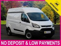 USED 2014 14 FORD TRANSIT CUSTOM 2.2 TDCI LWB HIGH ROOF 290 L2H2 PANEL VAN HIGH ROOF LONG WHEEL BASE MODEL PLYWOOD LINED
