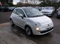 USED 2015 15 FIAT 500 1.2 LOUNGE 3d 69 BHP Finished in Pearl White, Glass Roof, Excellent Condition and only 23,353 Miles !!