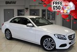 USED 2017 67 MERCEDES-BENZ C CLASS 2.1 C 220 D SPORT 4d 170 BHP FINISHED IN STUNNING POLOR WHITE WITH FULL BLACK LEATHER SEATS + SATELLITE NAVIGATION + REVERSE CAMERA + XENON HEADLIGHTS + HEATED FRONT SEATS + BLUETOOTH + 17 INCH ALLOYS + CRUISE CONTROL