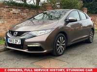 USED 2013 13 HONDA CIVIC 1.6 I-DTEC SE 5d 118 BHP 2 OWNERS, FULL SERVICE HISTORY, 1YR MOT, EXCELLENT CONDITION,  ALLOYS,CLIMATE, PRIVACY GLASS, E/WINDOWS, R/LOCKING, FREE  WARRANTY, FINANCE AVAILABLE, HPI CLEAR, PART EXCHANGE WELCOME,