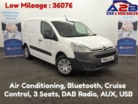 USED 2015 65 CITROEN BERLINGO 1.6 HDI ENTERPRISE with 3 Seats, Air Conditioning, Touch Screen, Bluetooth, Cruise Control, Rear Parking Sensors, and much more..... *Over The Phone Low Rate Finance Available*   *UK Delivery Can Also Be Arranged*