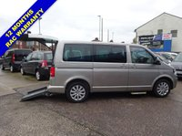 2012 VOLKSWAGEN CARAVELLE 2.0 EXECUTIVE TDI 5d AUTO 140 BHP WHEELCHAIR DRIVER TRANSFER £19995.00