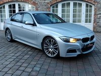 USED 2014 14 BMW 3 SERIES 3.0 330D M SPORT 4d AUTO 255 BHP 19IN ALLOYS - RED LEATHER