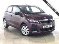 USED 2015 65 PEUGEOT 108 1.0 ACTIVE 5d AUTO 68 BHP 1 Owner/Bluetooth/DAB/Air Con