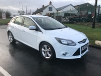 2013 FORD FOCUS 1.6 ZETEC TDCI white 47000 fsh  £6595.00