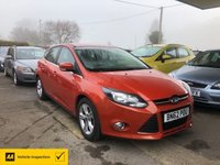 USED 2012 62 FORD FOCUS 1.0 ZETEC 5d 124 BHP NEED FINANCE? WE CAN HELP!