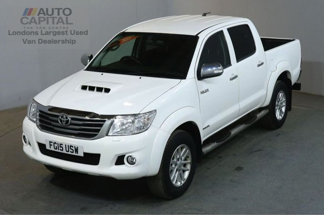 2015 15 TOYOTA HI-LUX 3.0 INVINCIBLE 4X4 D-4D DCB AUTO 170 BHP PICK UP £13,490+VAT AIR CONDITIONING