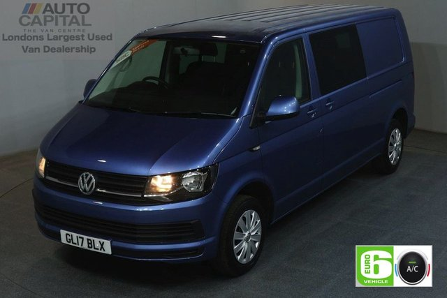 2017 17 VOLKSWAGEN TRANSPORTER 2.0 T32 TDI TRENDLINE 150 BHP EURO 6 LWB AUTOMATIC COMBI 6 SEATER AIR CON   AIR CONDITIONING EURO 6