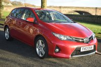 USED 2013 13 TOYOTA AURIS 1.6 SPORT VALVEMATIC 5d 130 BHP SERVICE HISTORY, SATELLITE NAVIGATION, REVERSE CAMERA, SPORTS SEATS, 6 SPEED GEARBOX
