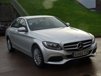 USED 2015 65 MERCEDES-BENZ C CLASS 2.1 C220 D SE EXECUTIVE 4d AUTO 170 BHP 1 OWNER FROM NEW + NAVIGATION SYSTEM * PARKING CAMERA * FULL LEATHER TRIM * FRONT AND REAR PARKING AID *