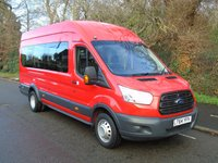 USED 2014 64 FORD TRANSIT 460 2.2TDCI 124 BHP ECONETIC TECH 18 SEATER LWB HIGH ROOF MINI BUS +1 OWNER+ULEZ COMPLIANT+ONLY 26K