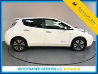 USED 2015 65 NISSAN LEAF 0.0 TEKNA 5d AUTO 109 BHP NISSAN HISTORY - 1 OWNER - SAT NAV - LEATHER - REAR CAMERA - AIR CON - CRUISE - HEATED FRONT SEATS