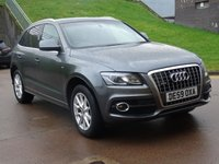 USED 2009 59 AUDI Q5 2.0 TDI QUATTRO S LINE 5d AUTO 168 BHP FULL LEATHER +   HEATED SEATS +  PRIVACY GLASS +  PARKING AID +  MOT NOVEMBER 2019 + SERVICE RECORD *