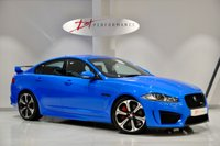 USED 2014 04 JAGUAR XF 5.0 V8 R-S 4d AUTO 542 BHP FRENCH RACING BLUE & SPIRES EXHAUST FULL JAGUAR FRANCHISE HISTORY