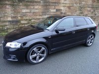 2012 AUDI A3 2.0 SPORTBACK TDI S LINE SPECIAL EDITION 5d 138 BHP £8320.00