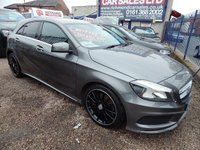 "USED 2013 63 MERCEDES-BENZ A CLASS 2.1 A220 CDI BLUEEFFICIENCY AMG SPORT 5d AUTO 170 BHP 18"" ALLOY WHEELS, 1/2 LEATHER, CD PLAYER, F.S.H, COLOUR SCREEN SAT NAV"