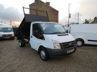 USED 2008 08 FORD TRANSIT 100T 350 2.4TDCi MWB TIPPER WITH BRAND NEW BODY ONE OWNER - FSH - ONLY 66000m