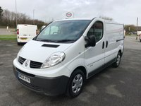 2014 RENAULT TRAFIC SL29 2.0 DCi 115 6-SPEED SWB £SOLD