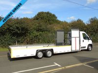 USED 2008 08 CITROEN RELAY 2.2HDI 33 120BHP 6 WHEEL TRI AXLE LOW CHASSIS FLAT BED TROLLY CARRIER +GENUINE 28K+IDEAL CONVERSION+