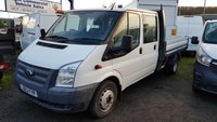 2013 FORD TRANSIT 125T 350 2.2TDCI DOUBLE CAB DROPSIDE WITH 9' BODY £9995.00