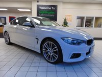 USED 2014 64 BMW 4 SERIES 2.0 420D M SPORT 2d 181 BHP SAT NAVIGATION + BLUETOOTH + FULL BLACK LEATHER SEATS + HEATED FRONT SEATS + CRUISE CONTROL + CLIMATE CONTROL + ALLOYS