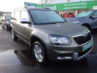 USED 2014 14 SKODA YETI 1.6 OUTDOOR ELEGANCE GREENLINE II TDI CR 5d 103 BHP £0 DEPOSIT FINANCE DEAL AVAILABLE....£30 A YEAR ROAD TAX....2 PRIVATE OWNERS FROM NEW